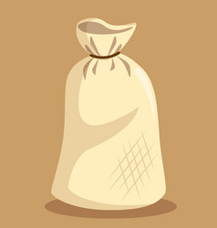 flour bag isolated icon vector image