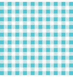 Gingham tablecloth pattern background vector