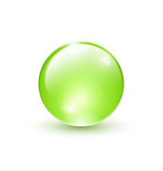 green sphere isolated vector image