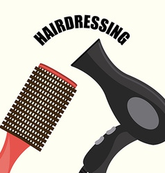 Hair dressing vector
