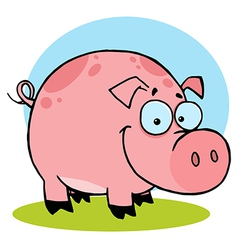 Happy farm pig with spots vector