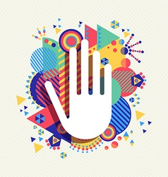 Help Hand icon concept color shape background vector image