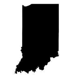 indiana in state border usa map solid vector image