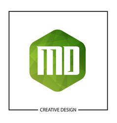Initial letter md logo template design vector