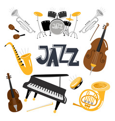 jazz musical instruments music instrument vector image