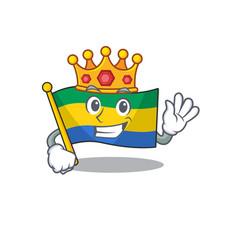 King flag gabon stored in drawer character vector