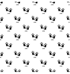 Lemur step pattern seamless vector