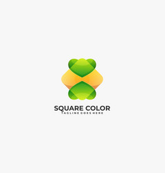 logo abstract square gradient colorful style vector image
