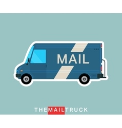 Mail truck isolated vector