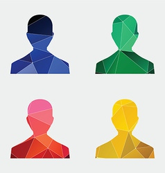 male profile icon Abstract Triangle vector image