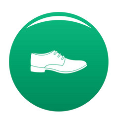 men shoe icon green vector image