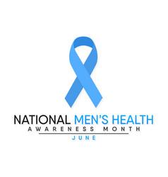Mens health month vector