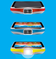 mobile torch vector image