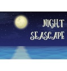 Moon Over Sea Landscape vector image