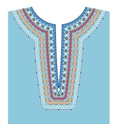 Neck line ethnic embroidery vector image