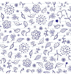 Notebook Doodles Seamless Pattern vector image