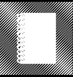 Notebook simple sign icon hole in moire vector