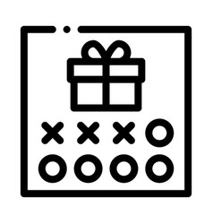Number needed to receive gift icon outline vector