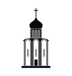 Orthodox church black simple icon vector image