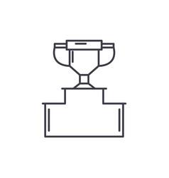 pedestal line icon concept pedestal linear vector image