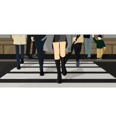 People crossing the street vector