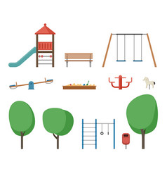 Playground outdoor equipment vector