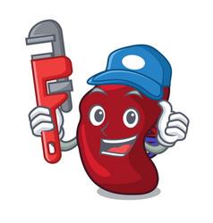 Plumber spleen mascot cartoon style vector