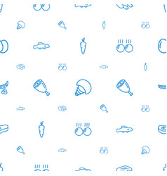 Raw icons pattern seamless white background vector