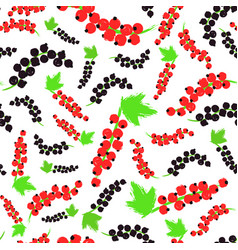 red black currents background painted pattern vector image