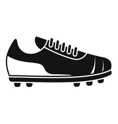 referee boot icon simple soccer coach vector image