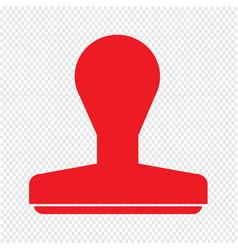 Rubber stamp icon design vector