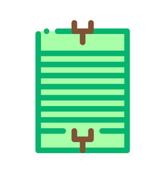 rugplaying field icon outline vector image
