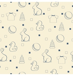 Seamless babackground vector