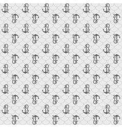 Seamless patterns gray anchors vector image