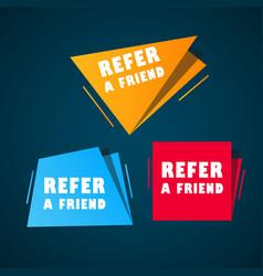 set doodle speech bubbles with refer a friend vector image