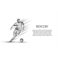 Soccer player dribbling with a ball vector