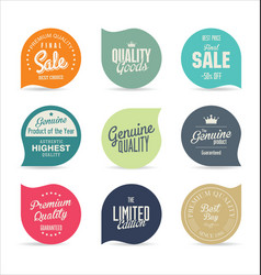 stickers collection 2 vector image