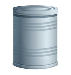 Survival tin can icon cartoon style vector