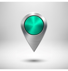 Technology Map Pointer with Green Metal Texture vector image