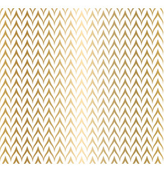 trendy simple seamless zig zag golden geometric vector image