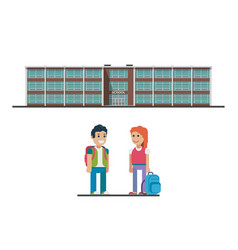 welcome back to school flat vector image
