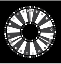 Wheel of Fortune Game Jackpot on Black Background vector