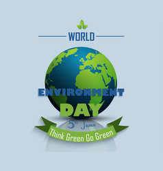 world environment day background with globe vector image