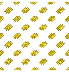 yellow cinema tickets seamless pattern vector image