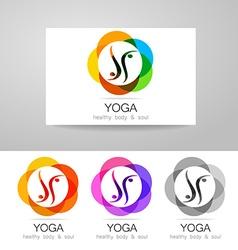 Yoga logo set vector