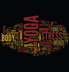 Yoga the alternate routeto a stress free street vector