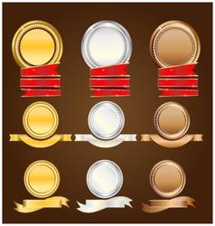 Banner goldsilvercopper vector image