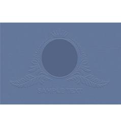 engraved vintage emblem vector image vector image
