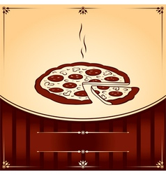 Hot Pizza graphic with place for text vector image