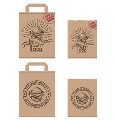 image of package with burger vector image vector image